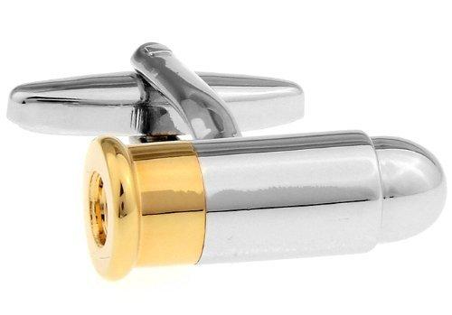 Silber und Gold Bullet Kugel Manschettenknöpfe