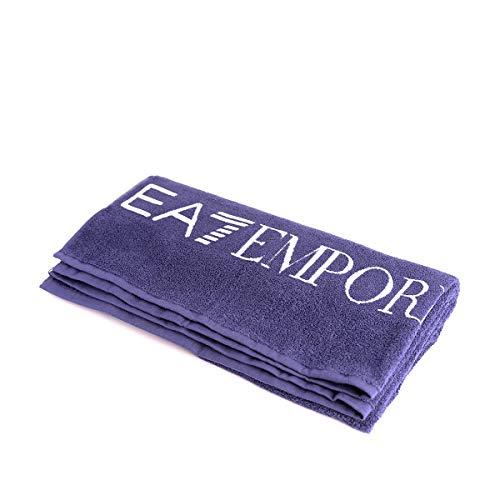 Emporio armani asciugamano ea7 blu 904002-8p791-32235-mediaval blue