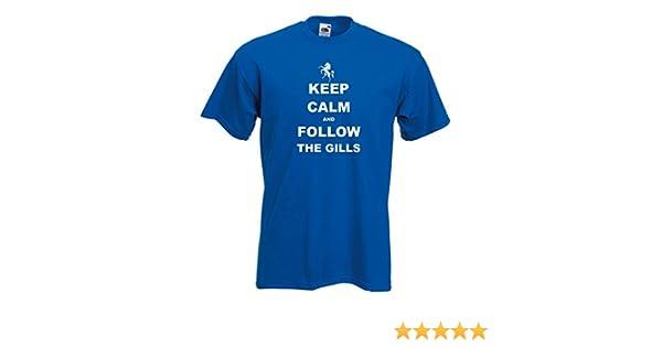 Keep calm football t-shirt-gillingham