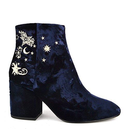 Ash Footwear Chaussures Elixir Boots a Talon Bleu Femme