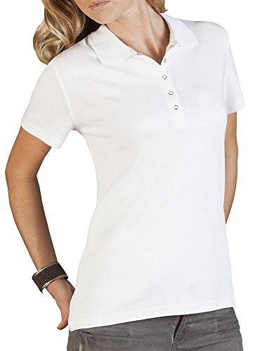 Poloshirt Jersey Damen, M, Weiß