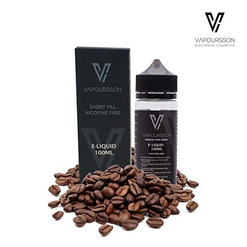 Vapoursson 100ml Kaffee 0mg E-Flüssigkeit, Shortfill Nikotinfreie Flaschen, 50/50 PG/VG - Starke echte Aromen, Für E-Shisha und E-Zigaretten|e flüssig