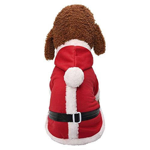 Kostüm 1950's Jungen - Alwayswin Weihnachten Kostüm für Hunde und Katzen, Herbst Winter Haustier Hunde Baumwolle Bekleidung mit Kapuze Warme Verdicken Party Kleidung für Teddy, Yorkshire Terrier, Chihuahua