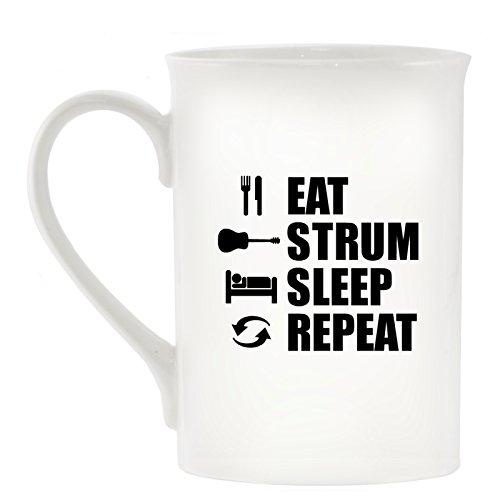 Eat Strumstick Schlaf wiederholen - Akustik Design Becher aus feinem Porzellan