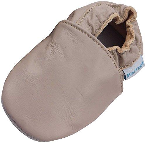 bis Weich Verschiedene Jahre Neugeborene Jungen 3 Babyschuhe Stile BabySchuhe M盲dchen MiniFeet Premium 4 Leder Beige und Pnqw4B56