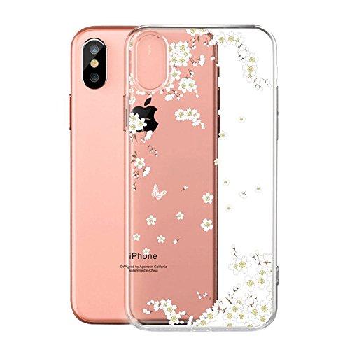 Per iPhone X Cover , YIGA Moda palloncino unicorno Cristallo Trasparente Silicone Morbido TPU Case Protezione Custodia per Apple iPhone X (5,8 pollici) WM91