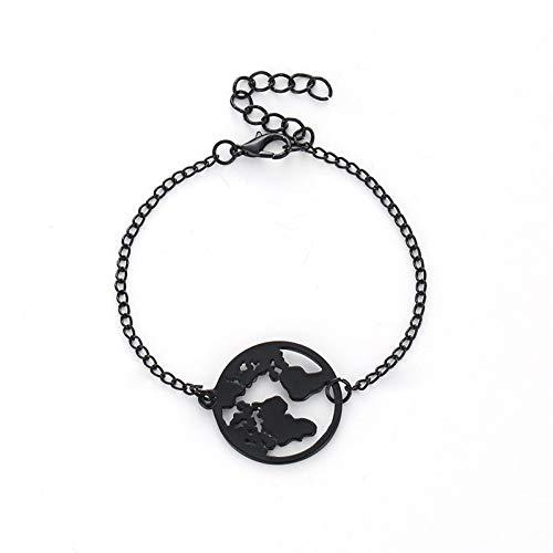 DMUEZW Fashion Chain Link Weltkarte Charm Armbänder & Armreifen Schmuck Globe Armband Charm Travel Schmuck Geschenk Fernweh Erde Armband