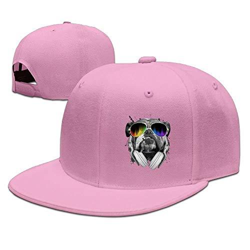 Kenice Bulldog Sunglasses Unisex Snapback Adjustable Flat Bill Baseball Cap