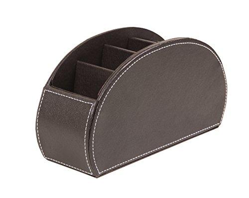 Osco–Soporte para cartas de piel sintética 5parte mando a distancia organizador, color marrón