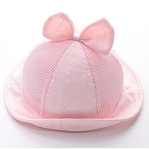 Hut Baby Hut 0-3-6 Monate weiblich Baby Prinzessin Sonnenschutz dünne Fischer Hut Frühling Sommer Mädchen Baby ()