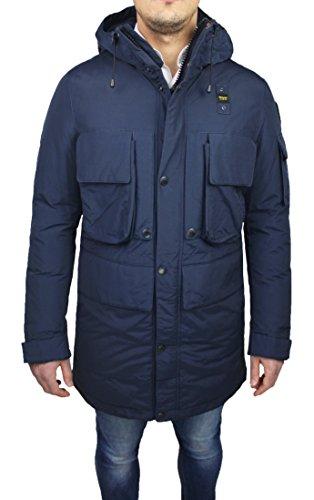 Blauer giaccone parka uomo 16wbluk03087 trench impermeabile lungo blu invernale neve (xl)