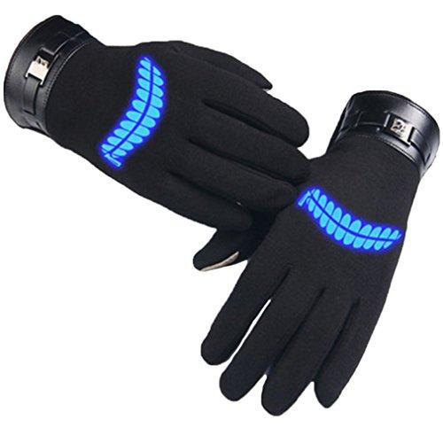 Bromeo Tokyo Ghoul Anime Hiver Chaud Lumineux Écran Tactile Gants Gloves Mittens Noir 1