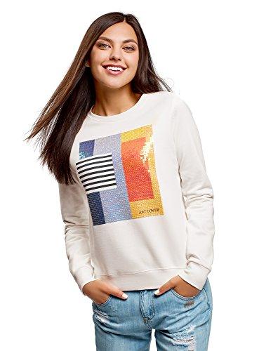 Oodji Ultra Mujer Suéter Algodón Estampado