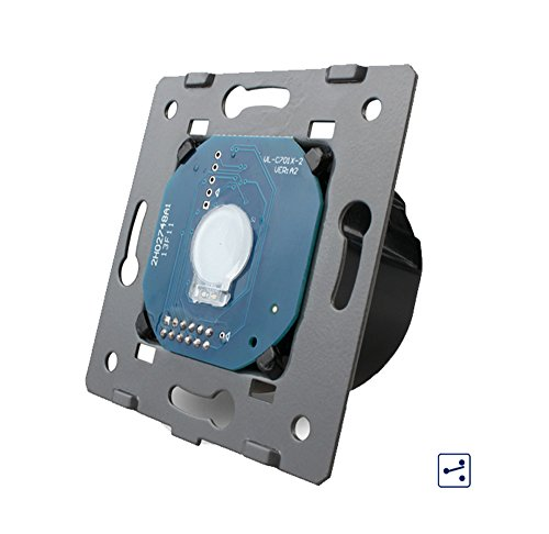 Bresetech DESIGN TOUCH LICHTSCHALTER GLAS STECKDOSEN Schalter System Steckdose Einsatz (4010 Wechselschalter/Kreuzschalter)