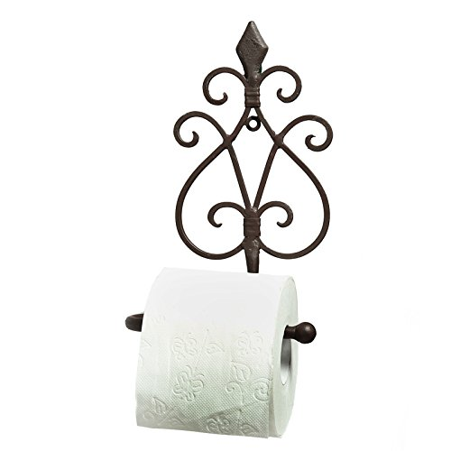 Toilettenpapierhalter WC-Halter WC-Rollenhalter Jugendstil Gusseisen Antik Bad