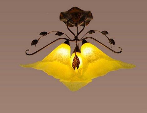 Europäisches Schlafzimmer Lampe-Europäisches Deckenleuchte Wohnzimmer das amerikanische Land Mittelmeer Wohnzimmer Lampe Big Hall romantisches Zimmer mit Lampe 3 Kopf saugen -