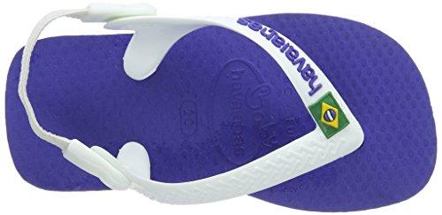 Havaianas Baby Brasil Logo, Infradito Unisex Bimbi, Blue Blu (Marine Blue 2711)