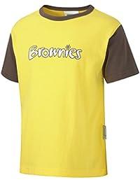 Official Brownies Girl Guides Uniform Short Sleeve T Shirt Size 24-36