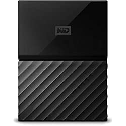 WD - My Passport - Disque dur externe portable USB 3.0 avec sauvegarde automatique et sécurisation par mot de passe - 4To, Noir