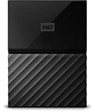 Western Digital My Passport Hard Disk Esterno Portatile, USB 3.0, Software di Backup Automatico, per PC, per Xbox One e PlayStation 4, 2 TB, Nero
