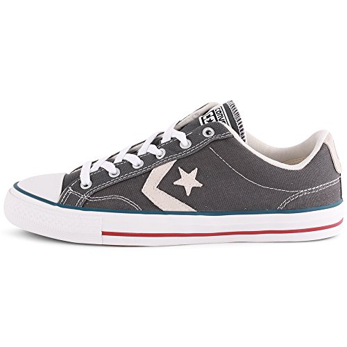 Converse Star Player Adulte Core Canvas Ox, Baskets mode mixte adulte Gris (Castlerock Blanc)