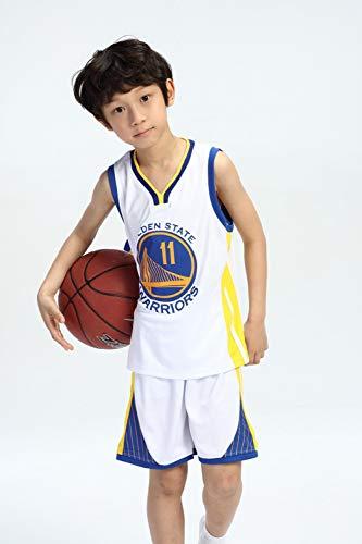 LZNK Kid Boy Herren NBA Warriors 30 Curry Basketball Shorts Sommer Trikots Basketball Uniform Swingman Jersey Top \u0026 Short-White-L -