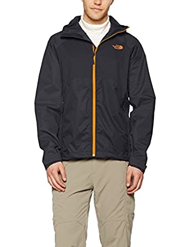 The North Face Sequence Men's Outdoor Jacket available in Asphalt Grey/Exuberance Orange Size Large