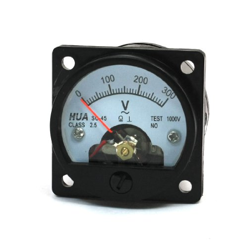 AC 0-300V, rund, Dial Analog Panel Meter Voltmeter Messgerät, Schwarz (Runde Dial Meter)