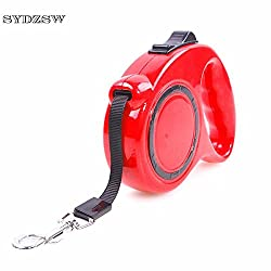 Generic Red, 3M : SYDZSW Pet Dog Accessories Retractable Dog Leash 3M 5M Puppy Pet Leads Dog Rope 7 Colors Chihuahua Leash Dog Products Wholesale