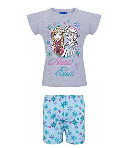 Disney Die Eiskönigin Elsa & Anna Mädchen Shorty-Pyjama - grau - 128