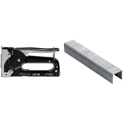 Bosch 2 609 255 858 - Grapadora manual HT 8 + 2 609 255 821 - Grapa o 53 (pack de 1000)