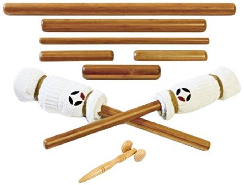 MassageByHeat–Varillas de bambú (resistente, para masaje con rodillo facial–Pack de 8piezas