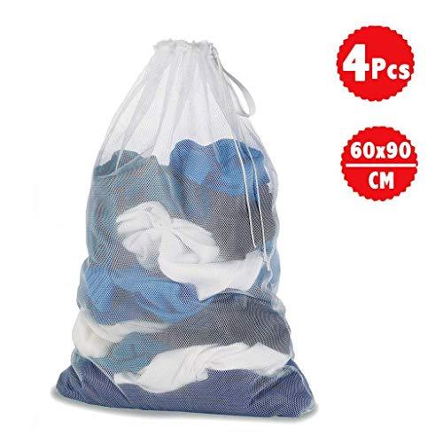 Hehong Sacs de blanchisserie lessive, réutilisation Nette, réutilisation Longue durée, Chemisier à Cordon Blanc, Bonneterie, Culo
