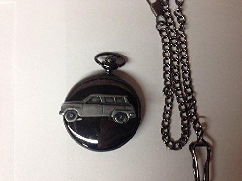 saab-95-ref215-pewter-effect-car-emblem-polished-black-case-mens-gift-quartz-pocket-watch-fob-made-i