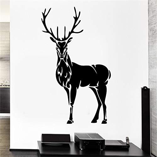 Hohe Qualität Wandtattoo Hirschhorn Elch Jagd Tier Vinyl Aufkleber Vinyl Dekoration Wandbild DIYDecals lila 57x88 cm -