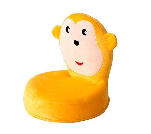 bonVIVO® Mongy, Boden- und Klappstuhl für Kinder im frechen Affendesign,der Kinderstuhl passt in jedes Kinderzimmer, ideal für Sitzgruppen, 100% Schadstofffrei, leicht verstaubar, belastbar bis 70Kg