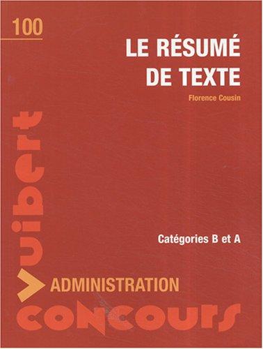 Le résumé de texte - Entrainement - Catégories A et B