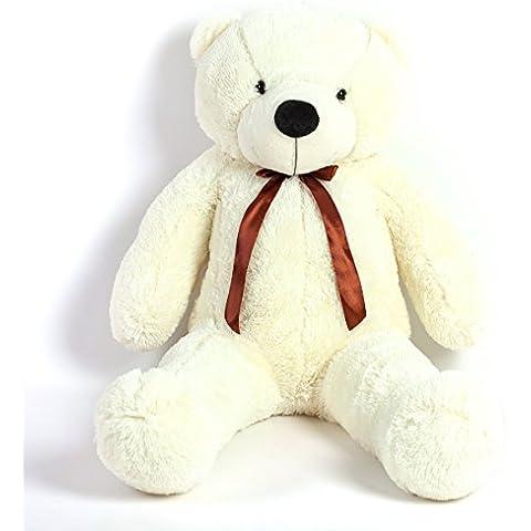 MoreGentle- 120 cm colchón blanco gigante oso peluches regalo XXL