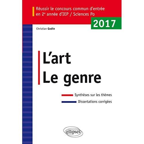 l'Art le Genre Entrée IEP 2017 2e Année