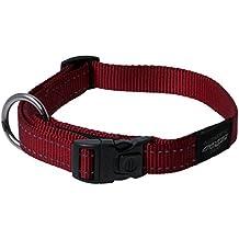 Rogz utilidad grande 3/4-inch reflectante Fanbelt collar de perro
