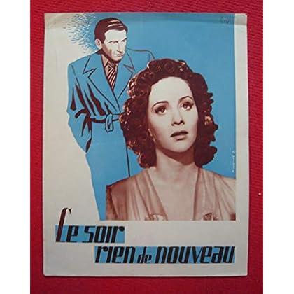 Dossier de presse de Le soir rien de nouveau (1942) - 31x 24 cm, 4 p – Film de Mario Mattoli avec Alida Valli, Carlo Ninchi – Photos N&B - résumé du scénario – Bon état.