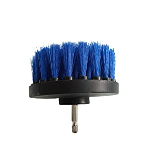 Hete-supply 4-in-1 Reinigungsbürste für die Bohrmaschine, robuste Bürste für die Bohrmaschine zur Reinigung von Autoreifen, Autositzen, Fußmatten, Teppichen, Küche, Bad, Badewanne usw.
