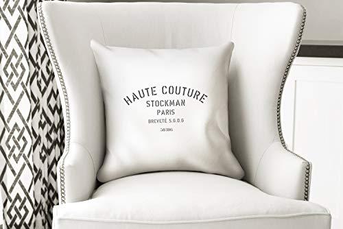 ZonaloDutt Bauernhaus Dekor Kissen Haute Couture handgefertigte Vintage Style Kissenbezug Dekokissen Mode inspiriert Franz?sisch inspiriert tolles Geschenk