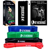 [2018 Upgraded] Fitzeal Pull Up Assistance Resistance Band wtih Free Carry Bag and Physical Workout Guide – Extra Durable Top Rated Elastic Workout Home Bands G
