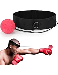 Sweethos Boxing Reflex Ball, Boxing Head Ball Portable Pro Boxing Equipment Training Punch Ball with Headband for Kid Adult,Hand Eye Coordination and Fitness Trainer