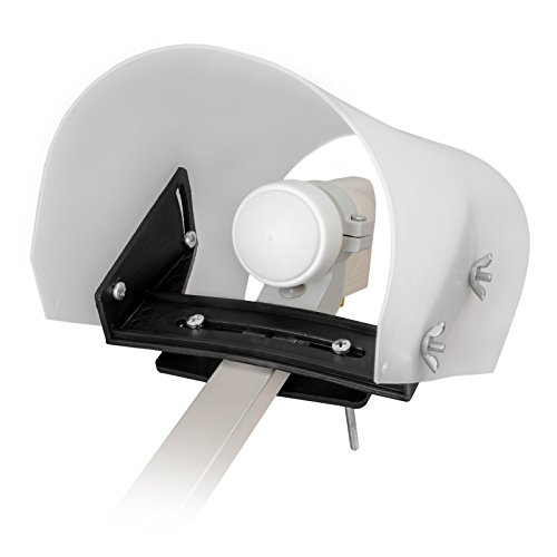 LNB Wetterschutzhaube weiße Kappe von HB-DIGITAL - schützt den LNB vor Wettereinflüssen wie Regen, Schnee, EIS, Hagel und Sonne (UV Schutz) Regenschutz Cap