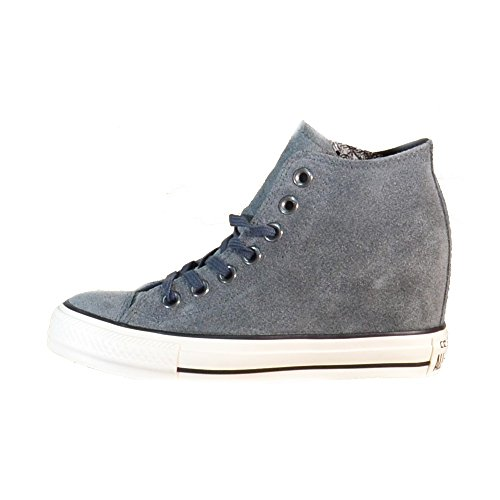 All Star Hi Leather Unisex Charcoal