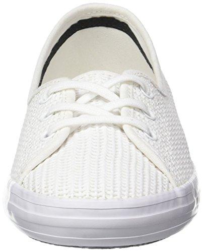 Lacoste Damen Ziane Chunky 217 1 Bässe Weiß (Blanc)