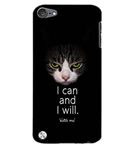 PrintDhaba I CAN AND I WILL D-7100 Back Case Cover for APPLE IPOD TOUCH 5 (Multi-Coloured)