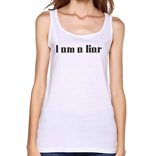 Henrnt Camisetas Sin Manga Mujer/Chaleco,Verano Camiseta Tirantes, Ladies I Am A Liar Sleeveless Tank Top Sport Gym Vests Running T Shirt tee